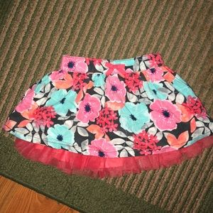 Gymboree floral colored skirt 🌸
